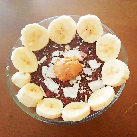 chia pudding proteico